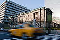 April 7, 2011, Tokyo, Japan - A view of the Bank of Japan (BOJ) head office. BOJ announced today that it will offer 1 trillion yen ($12 billion) in loans to prevent cash shortages due to the devastating earthquake and tsunami that rocked the north region of Japan on March 11. (Photo by Christopher Jue/AFLO) [2331]