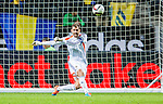 Solna 2014-10-12 Fotboll EM-kval , Sverige - Liechtenstein :  <br /> Sveriges m&aring;lvakt goalkeeper Andreas Isaksson i aktion <br /> (Photo: Kenta J&ouml;nsson) Keywords:  Sweden Sverige Friends Arena EM Kval EM-kval UEFA Euro European 2016 Qualifying Group Grupp G Liechtenstein portr&auml;tt portrait