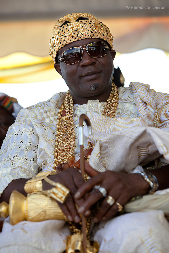 April 17, 2010 - Karuzika Royal Palace, Fort Portal, Uganda - King Chevy-Zeh Jean Gervais King of Korou Kingdom in the Ivory Coast while attending the18th birthday and coronation celebrations of Uganda's King of the Tooro Kingdom, King Oyo Nyimba Kabamba Iguru Rukidi IV, in Karuzika Royal Palace at Fort Portal. King Oyo is one of the world's youngest ruling monarchs. He ascended to throne at age three after his father, King Olimi Kaboyo, died of a heart attack in 1995. He rules over more than 2 million people in the Tooro kingdom, one of four kingdoms allowed by the government to exist in Uganda. Today he assumed the full duties of King of the Tooros as he reachs adulthood. Photo credit: Benedicte Desrus /Sipa Press