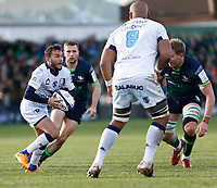 17th November 2019; The Sportsground, Galway, Connacht, Ireland; European Rugby Champions Cup, Connacht versus Montpellier; Benoit Paillaugue moves the ball for Montpellier - Editorial Use