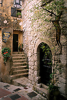 ancient cobblestone home in the town of Eze in Provence France