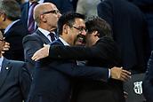 9th September 2017, Camp Nou, Barcelona, Spain; La Liga football, Barcelona versus Espanyol; Josep Maria Bartomeu and Carles Puigdemont president of Catalonia before the match