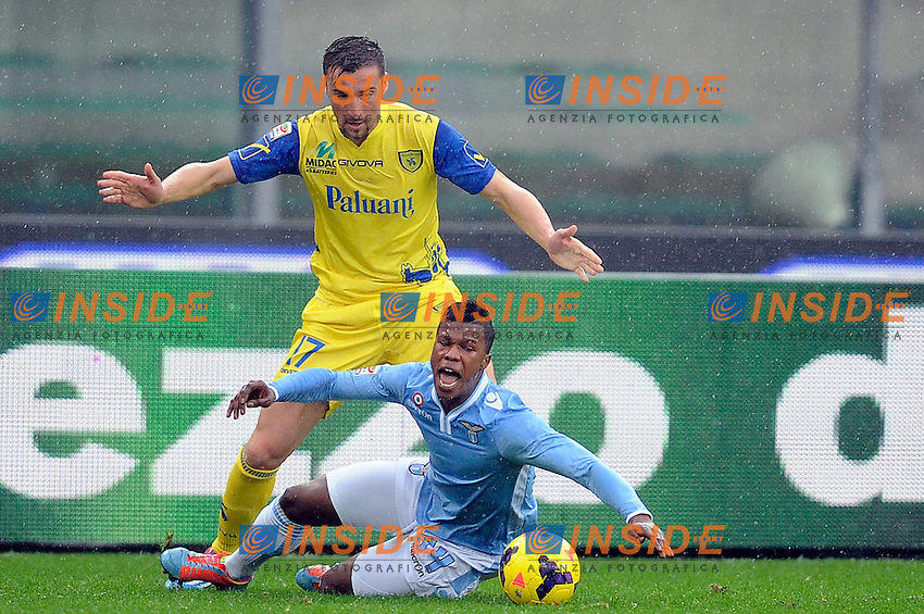 Gennaro Sardo Chievo, Keita Balde' Lazio <br /> Verona 02-02-2014 Stadio Bentegodi. Football Calcio Serie A 2013/2014 Chievo Verona - Lazio foto Insidefoto