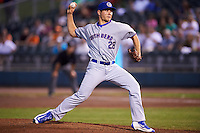 South Bend Cubs relief pitcher James Norwood (28) during a game against the Dayton Dragons on May 11, 2016 at Fifth Third Field in Dayton, Ohio.  South Bend defeated Dayton 2-0.  (Mike Janes/Four Seam Images)