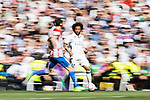 Marcelo Vieira Da Silva (r) of Real Madrid in action during their La Liga match between Real Madrid and Atletico de Madrid at the Santiago Bernabeu Stadium on 08 April 2017 in Madrid, Spain. Photo by Diego Gonzalez Souto / Power Sport Images