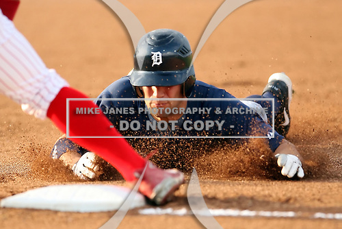 July 23 2008:  Josh Workman of the Oneonta Tigers, Class-A affiliate of the Detroit Tigers, during a game at Dwyer Stadium in Batavia, NY.  Photo by:  Mike Janes/Four Seam Images