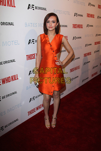 HOLLYWOOD, CA - February 26: Olivia Cooke at A&amp;E's &quot;Bates Motel&quot; and &quot;Those Who Kill&quot; Premiere Party, Warwick, Hollywood,  February 26, 2014. <br /> CAP/MPI/JO<br /> &copy;JO/MPI/Capital Pictures