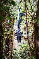 Ecuador. Mashpi Lodge Sky Bike in the Choco Rainforest, an area of Cloud Forest in the Pichincha Province of Ecuador, South America