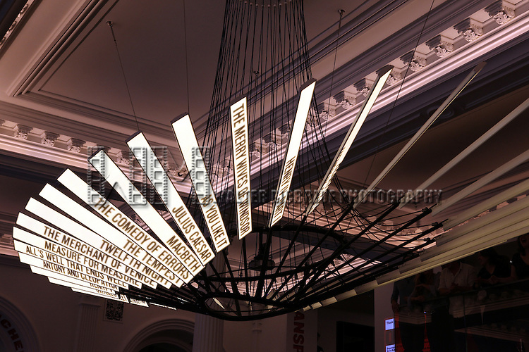 The Lobby Design at the Unveiling of the Revitalized Public Theater at Astor Place in New York City on 10/4/2012.