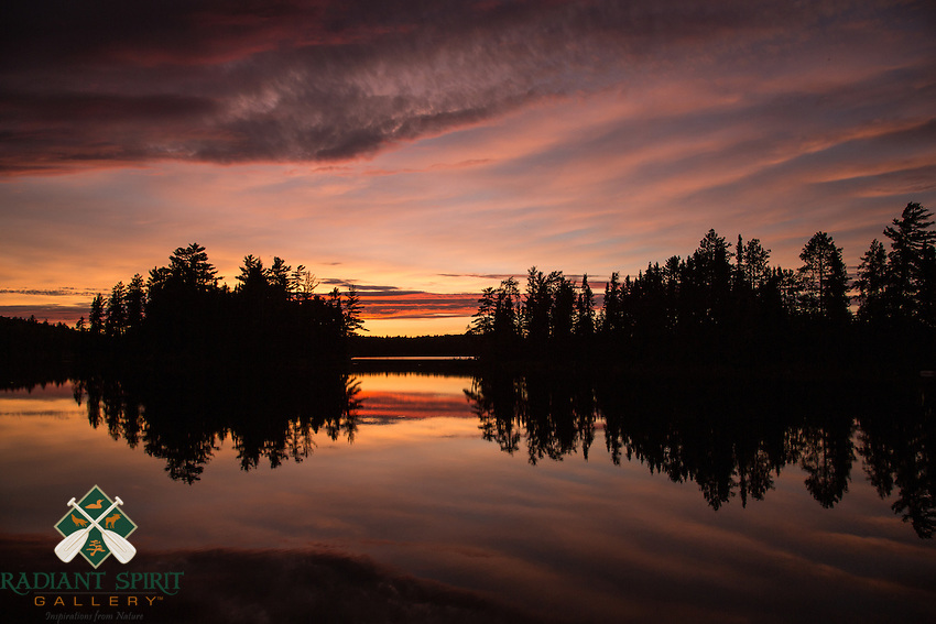 &quot;Sunset on Suzanette Lake&quot;<br /> <br /> A sunset such as this is a fitting end to a beautiful day paddling Quetico.<br /> ~ Day 89 of Inspired by Wilderness: A Four Season Solo Canoe Journey
