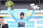Christopher Lawless (GBR) Team Ineos takes over the race leaders Blue Jersey at the end of Stage 3 of the 2019 Tour de Yorkshire, running 132km from Brindlington to Scarborough, Yorkshire, England. 4th May 2019.<br /> Picture: ASO/SWPix | Cyclefile<br /> <br /> All photos usage must carry mandatory copyright credit (&copy; Cyclefile | ASO/SWPix)