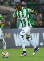 MEDELLÍN -COLOMBIA-13-02-2016: Victor Ibarbo jugador de Nacional en acción durant eel encuentro entre Atlético Nacional y Rionegro Águilas por la fecha 3 de la Liga Águila I 2016 jugado en el estadio Atanasio Girardot de la ciudad de Medellín./ Victor Ibarbo player of Nacional in action during a match between Atletico Nacional and Rionegro Aguilas for the date 3 of the Aguila League I 2016 at Atanasio Girardot stadium in Medellin city. Photo: VizzorImage/León Monsalve/ Str