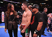 LOS ANGELES - SEPTEMBER 28:  Josesito Lopez and Heidi Androl at the Fox Sports PBC Pay-Per-View fight night on September 28, 2019 in Los Angeles, California. (Photo by Frank Micelotta/Fox Sports/PictureGroup)