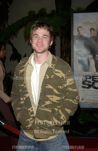 Actor SHAWN ASHMORE at the world premiere, in Hollywood, of The Perfect Score..January 27, 2004