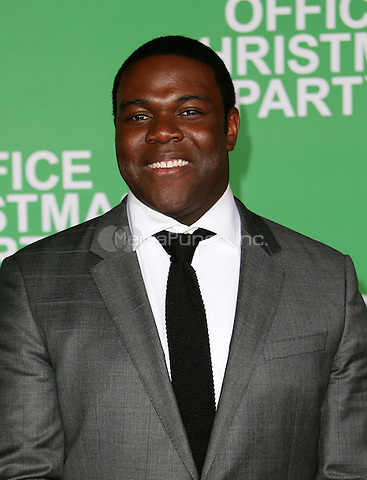 """Westwood, CA - DECEMBER 07: Sam Richardson, At Premiere Of Paramount Pictures' """"Office Christmas Party"""" At Regency Village Theatre, California on December 07, 2016. Credit: Faye Sadou/MediaPunch"""