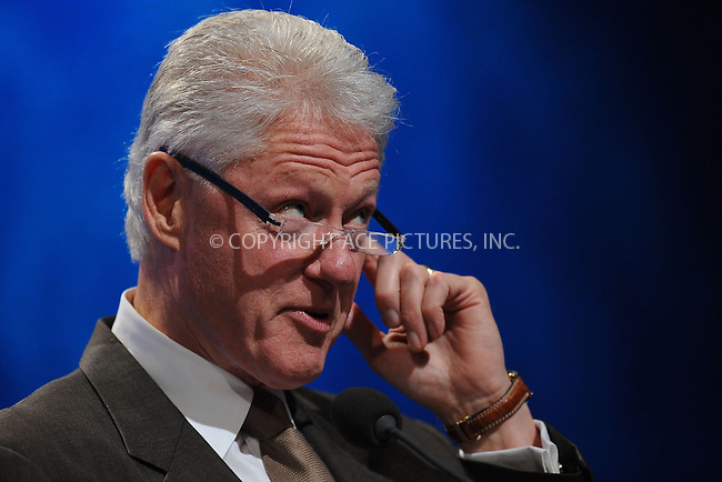 WWW.ACEPIXS.COM . . . . . ....September 23 2009, New York City....Former US President Bill Clinton speaking at the Clinton Global Initiative on September 23 2009 in New York City....Please byline: KRISTIN CALLAHAN - ACEPIXS.COM.. . . . . . ..Ace Pictures, Inc:  ..tel: (212) 243 8787 or (646) 769 0430..e-mail: info@acepixs.com..web: http://www.acepixs.com