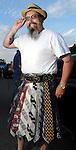 Big Al sports his tie kilt at the 2010 Art Car Ball at the Orange Show Monument & Warehouse Thursday May 06,2010.  (Dave Rossman Photo)
