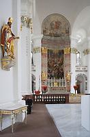 Europe/Allemagne/Bade-Würrtemberg/Heidelberg: Eglise des Jésuites -Jesuitenkirche- Baroque 18 e s-la nef