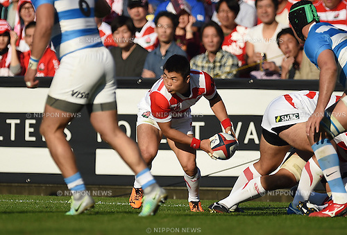 Fumiaki Tanaka (JPN), NOVEMBER 5, 2016 - Rugby : Rugby test match between Japan 20-54 Argentina at Prince Chichibu Memorial Stadium in Tokyo, Japan. (Photo by AFLO)
