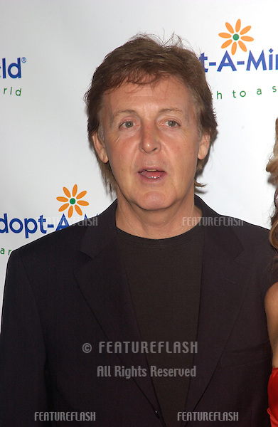 SIR PAUL McCARTNEY at the 4th Annual Adopt-A-Minefield Gala at the Century Plaza Hotel, Beverly Hills, California..October 15, 2004