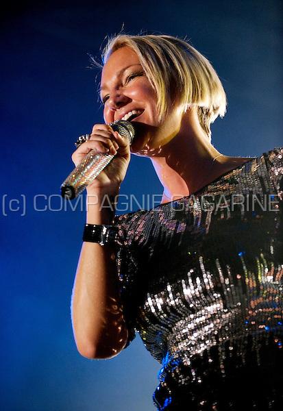 Belgian singer Kate Ryan at the Beleuvenissen festival in Leuven (Belgium, 16/07/2010)