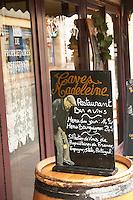 chalk board caves madeleine rue fg madeleine beaune cote de beaune burgundy france