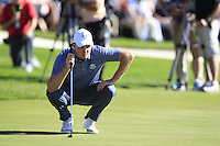 Justin Rose (Team Europe) during Sunday Singles matches at the Ryder Cup, Hazeltine National Golf Club, Chaska, Minnesota, USA. 02/10/2016<br /> Picture: Golffile | Fran Caffrey<br /> <br /> <br /> All photo usage must carry mandatory copyright credit (&copy; Golffile | Fran Caffrey)