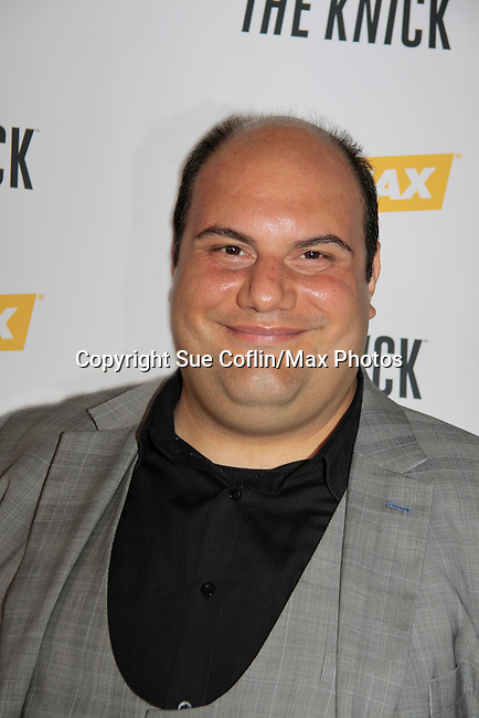 """David Fierro stars inThe Knick as """"Inspector"""" on Cinemax - premiering Aug 2014 - starring Andre Holland, Leon Addison Brown, David Fierro and more on July 23, 2014 at NY Academy of Medicine , New York City, New York.  (Photo by Sue Coflin/Max Photos)"""