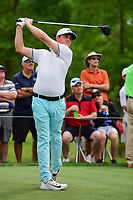 Cody Gribble (USA) watches his tee shot on 11 during round 3 of the Shell Houston Open, Golf Club of Houston, Houston, Texas, USA. 4/1/2017.<br /> Picture: Golffile | Ken Murray<br /> <br /> <br /> All photo usage must carry mandatory copyright credit (&copy; Golffile | Ken Murray)