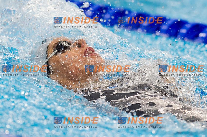 GEMO Elena ITA<br /> London, Queen Elizabeth II Olympic Park Pool <br /> LEN 2016 European Aquatics Elite Championships <br /> Swimming<br /> Women's 100m backstroke semifinal  <br /> Day 10 18-05-2016<br /> Photo Giorgio Perottino/Deepbluemedia/Insidefoto