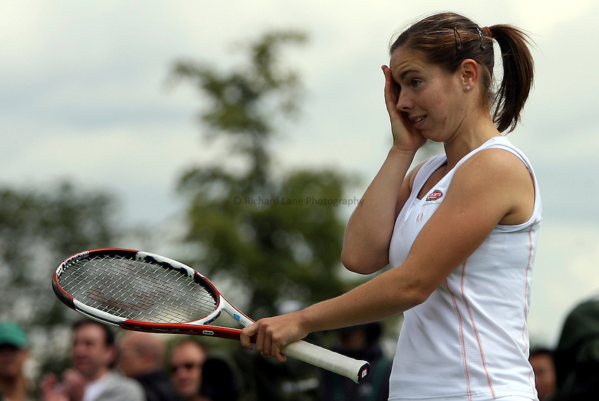 Photo: Paul Thomas..Wimbledon Championships. 28/06/2007...Katie O'Brien (GBR) during her loss to Michaella Krajicek.