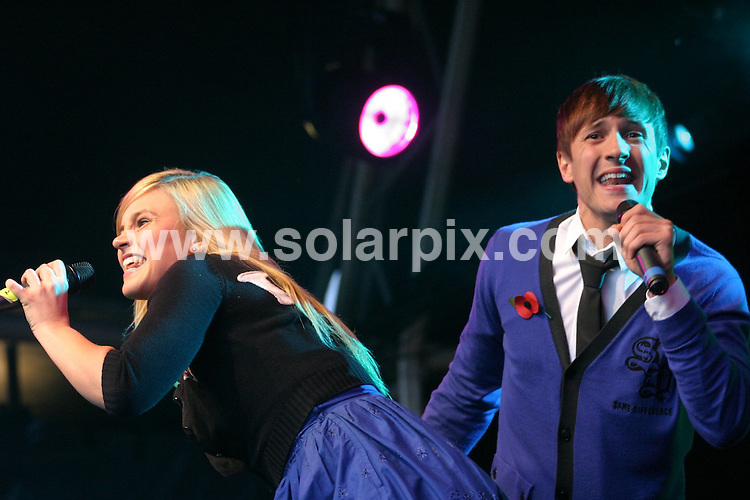 **ALL ROUND PICTURES FROM SOLARPIX.COM**.**WORLDWIDE SYNDICATION RIGHTS**.pictures from Birmingham's Christmas Lights switch on. Held at Millenium Point, Birmingham, UK. 8th November 2008...This pic: Sean and Sarah Smith from Same Difference..JOB REF: 7846 NYA     DATE: 08_11_2008.**MUST CREDIT SOLARPIX.COM OR DOUBLE FEE WILL BE CHARGED* *UNDER NO CIRCUMSTANCES IS THIS IMAGE TO BE REPRODUCED FOR ANY ONLINE EDITION WITHOUT PRIOR PERMISSION*
