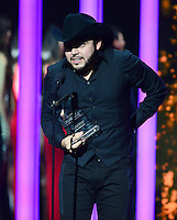 CORAL GABLES, FL - APRIL 30: Gerardo Ortiz onstage accepts award at the 2015 Billboard Latin Music Awards presented bu State Farm on Telemundo at BankUnited Center on April 30, 2015 in Miami, Florida. Credit: MPI10 / MediaPunch