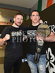 SBG Chief John Kavanagh with SBG Drogheda manager Paul Byrne at the official opening of Straight Blast Gym Drogheda. Photo:Colin Bell/pressphotos.ie