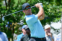 Paul Casey (GBR) watches his tee shot on 7 during round 2 of the Dean &amp; Deluca Invitational, at The Colonial, Ft. Worth, Texas, USA. 5/26/2017.<br /> Picture: Golffile | Ken Murray<br /> <br /> <br /> All photo usage must carry mandatory copyright credit (&copy; Golffile | Ken Murray)