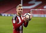 Harry Chapman of Sheffield Utd with the match ball after scoring a hat trick during the Emirates FA Cup Round One match at Bramall Lane Stadium, Sheffield. Picture date: November 6th, 2016. Pic Simon Bellis/Sportimage