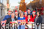 Killarney Traders who are asking people to Shop Local this Christmas front row l-r: Paul Sherry, Sheila Fell, Patricia McEnenry, Tanya O'Shea. Back row: Simon Gallivan, Anthony Walsh, Kevin O'Callaghan, Denis McMahon, Hannah sheehy Rita  Bowler