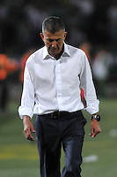 MEDELLIN- COLOMBIA - 13-02-2014: Juan C. Osorio, técnico del Atletico Nacional de Colombia, durante partido entre Atletico Nacional y Newell´s Old Boys de la segunda fase, grupo 6, de la Copa Bridgestone Libertadores en el estadio Atanasio Girardot, de la ciudad de Medellin.  / Juan C. Osorio, coach of Atletico Nacional of Colombia, during a match between Atletico Nacional and Newell´s Old Boys for the second phase, group 4, of the Copa Bridgestone Libertadores in the Atanasio Girardot stadium in Medellin city. Photo: VizzorImage / Luis Rios / Str.
