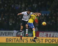 Leeds United's Mateusz Klich and Bolton Wanderers' Jason Lowe<br /> <br /> Photographer Stephen White/CameraSport<br /> <br /> The EFL Sky Bet Championship - Bolton Wanderers v Leeds United - Saturday 15th December 2018 - University of Bolton Stadium - Bolton<br /> <br /> World Copyright &copy; 2018 CameraSport. All rights reserved. 43 Linden Ave. Countesthorpe. Leicester. England. LE8 5PG - Tel: +44 (0) 116 277 4147 - admin@camerasport.com - www.camerasport.com