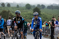 Maximiliano Richeze (ARG/Deceuninck Quick Step) and Enric Mas (ESP/Deceuninck Quick Step) post race ready to make the descend back to the team bus. <br /> <br /> Stage 15: Limoux to Foix Prat d'Albis (185km)<br /> 106th Tour de France 2019 (2.UWT)<br /> <br /> ©kramon