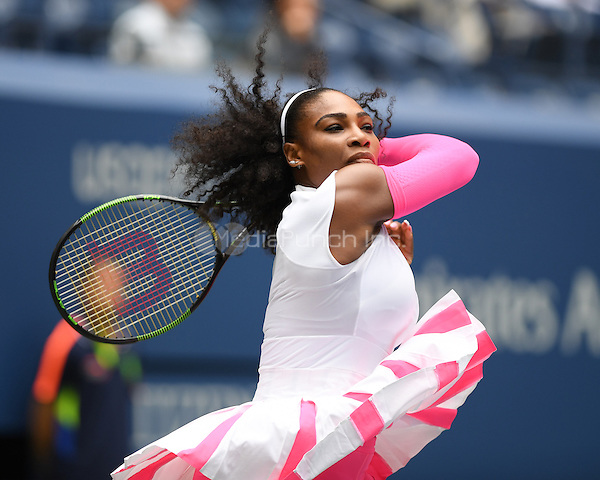 FLUSHING NY- SEPTEMBER 03: Serena Williams Vs Johanna Larssonon Arthur Ashe Stadium at the USTA Billie Jean King National Tennis Center on September 3, 2016 in Flushing Queens. Credit: mpi04/MediaPunch
