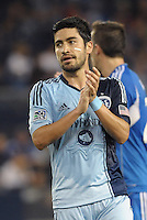 Paulo Nagamura (6) midfield Sporting KC..Sporting Kansas City defeated Montreal Impact 2-0 at Sporting Park, Kansas City, Kansas.