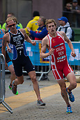 June 11th 2017, Leeds, Yorkshire, England; ITU World Triathlon Leeds 2017; Andreas Schilling competes in the running phase around Leeds city centre