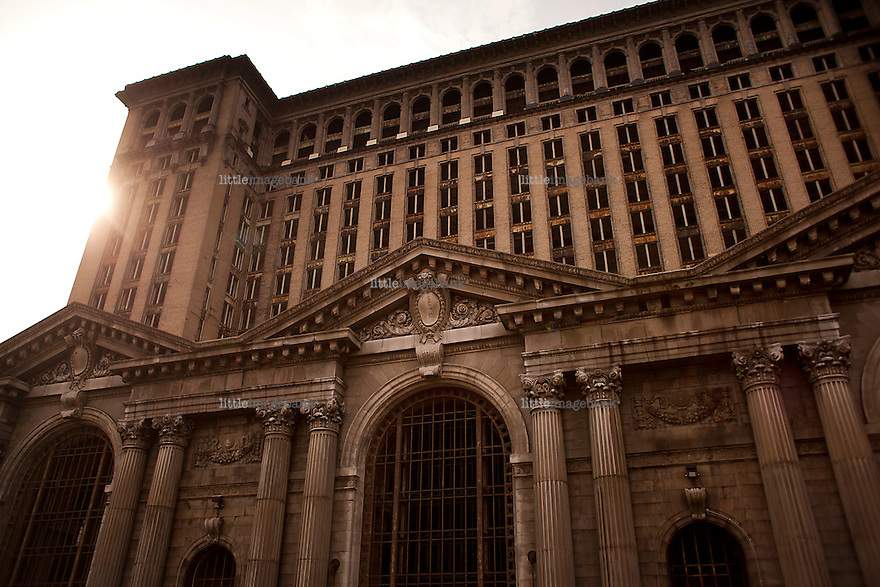 "Detroit, Michigan, USA. The former central train station buildt in 1912. Detroit used to be refered to as ""the Paris of the mid-west"" well known for it's architecture. Most of it is now abbandoned and dangerous to enter due to the bad state of the structures. The state of Michigan once was concidered a promised land, in the era of the american automobile industry adventure. Due to the financial crisis, the state is on the brink of economic and social colapse. Fifty years ago, the city of Detroit was home of two million residents. In 2012 only 700.000 residents remain, and 87 percent of the remaining residents are African Americans. The gap between rich and poor in Detroit are as great as in the Philipines. Photo: Christopher Olssøn."