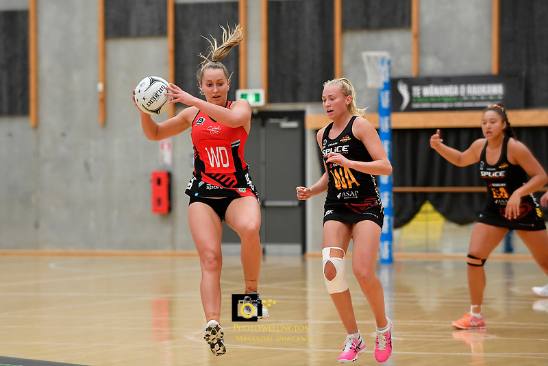 Tactix&rsquo; Charlotte Elley in action during the Preseason Tournament - Tactix v Magic at Ngā  Purapura, Otaki, New Zealand on Saturday 9 February  2019. <br /> Photo by Masanori Udagawa. <br /> www.photowellington.photoshelter.com