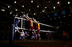 UNIVERSITY PARK, PA- MAY 5:  General view of volleyball players going up to net during the 2011 NCAA Men's Volleyball Championship at Rec Hall in University Park, Pennsylvania on May 5, 2011. (Photo by Donald Mirallee) *** Local Caption ***