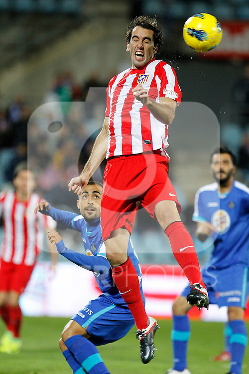 Atletico de Madrid's Diego Godin during La Liga match.November 6,2011. (ALTERPHOTOS/Acero)