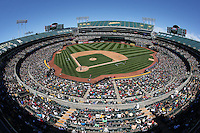 OAKLAND, CA - JUNE 18:  General overall interior wide angle view during the game between the Los Angeles Angels of Anaheim and Oakland Athletics at the Oakland Coliseum on Saturday, June 18, 2016 in Oakland, California. Photo by Brad Mangin