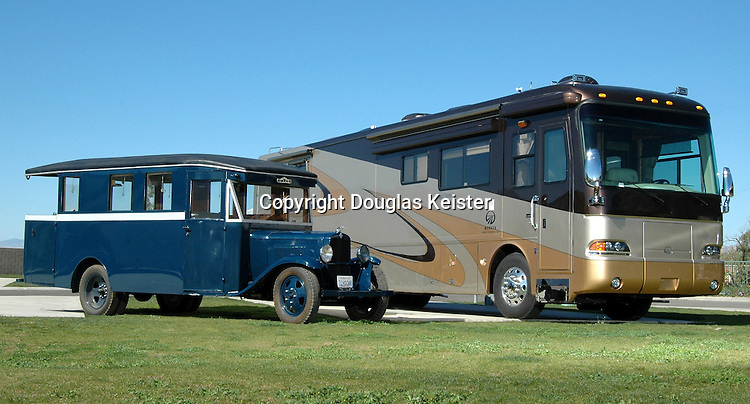 Motorhomes have come a long way since the first home-built house cars of the early twentieth century. Pictured here is a 1931 22-foot house car built on a Chevrolet truck chassis owned by silver screen sex-goddess Mae West. The vehicle, which has a 6-cylinder engine, capable of achieving the blistering speed of 55 miles per hour, has an all-wood interior, 2-burner stove, and kitchen sink. The vehicle sleeps four. The most interesting feature of Ms. West&rsquo;s home on wheels is the rear balcony, which provided her with a platform to address her adoring fans. Other than her voluptuous figure, Mae West is known for her double-entendre quotes meant to confound the censors. Some of the most famous quotes attributed to her are, &ldquo;Why don&rsquo;t you come up some time and see me?,&rdquo; &ldquo;It&rsquo;s not the men in my life; it&rsquo;s the life in my men,&rdquo; and &ldquo;Too much of a good thing is wonderful.&rdquo; When asked if censorship had affected her prosperity, she said, &ldquo;I believe in censorship. After all, I have made a fortune out of it.&rdquo; <br />