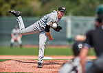 4 September 2017: Tri-City ValleyCats pitcher Tyler Ivey on the mound during the first game of a double-header against the Vermont Lake Monsters at Centennial Field in Burlington, Vermont. The ValleyCats split their games, winning 6-5 in the first, then dropping the second 7-4 in NY Penn League action. Mandatory Credit: Ed Wolfstein Photo *** RAW (NEF) Image File Available ***